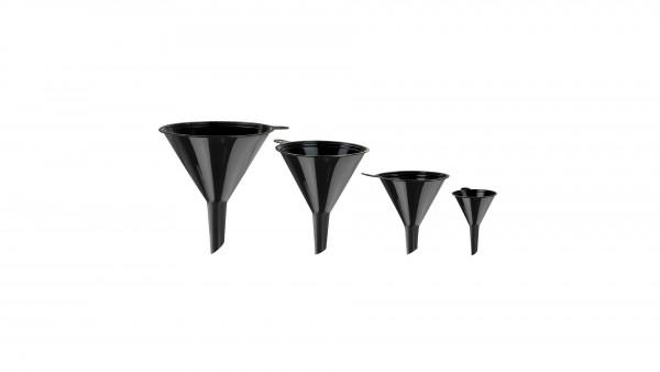Kunststoff-Trichter Set 4 tlg. schwarz