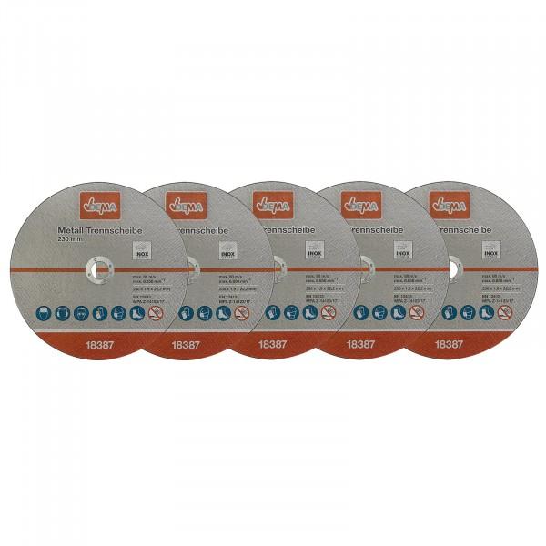 Metall Trennscheiben Set 5er 230 mm / 1,9