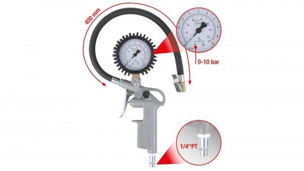 Druckluft Reifenfüller KS Tools Geeicht 0-10 bar