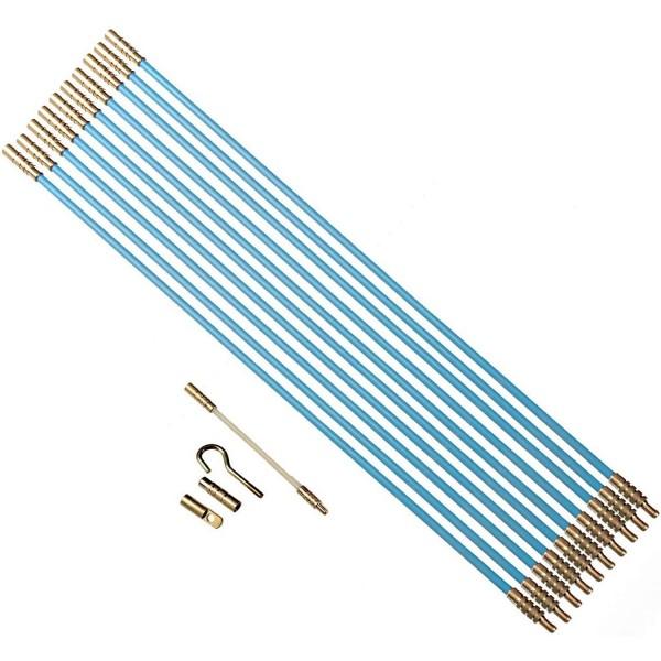 Kabelverlegewerkzeug 13tlg. Satz 10 x 1m