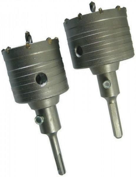 Bohrkronen -Set 65/80mm SDS PLUS und 6-Kant Aufnahme