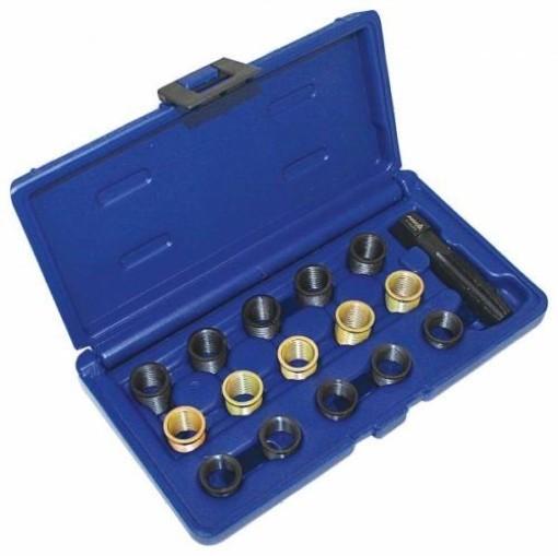 Zündkerzen Gewinde Reparatur Set M14 x 1.25 Gewindeeinsätze Gewindebohrer