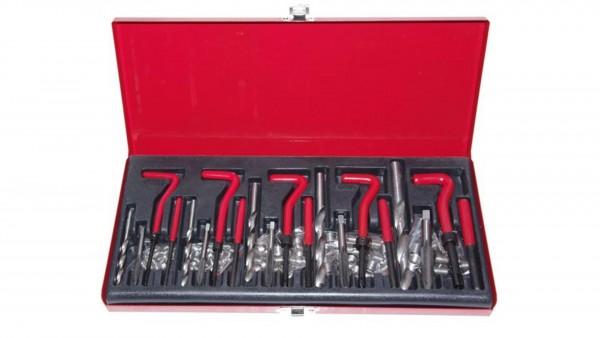 Gewinde Reparatur Werkzeug Satz Innengewinde Gewindehülsen M5 M6 M8 M10 M12 131 teilig