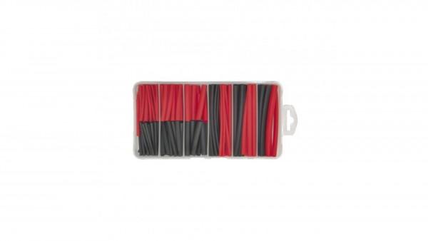 Schrumpfschlauch Sortiment schwarz / rot 127 Stk
