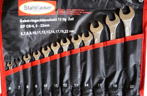 Gabel-Ringschlüssel Maulringschlüssel Set 12 tlg.