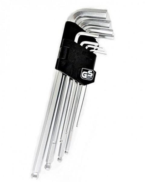 Winkelschlüssel Knochen Inbus 9 tlg. 2-10 mm, Kugelkopf CV