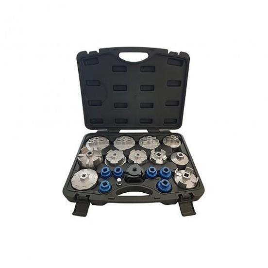 Ölfilterkappen Ölfilterschlüssel Satz 23 tlg
